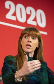 Angela Rayner speaking Labour Deputy Leadership Hustings, hosted by Co-coperative Party, Business Design Centre, North London. - Jess Hurd - 16-02-2020