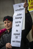 Peter Tatchell, March for Julian Assange against his extradition to America, London - Jess Hurd - 22-02-2020