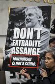 March for Julian Assange against his extradition to America, London - Jess Hurd - 22-02-2020