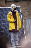 Greta Thunberg speaking, Bristol Youth Strike 4 Climate protest - Paul Box - 28-02-2020