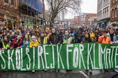 Greta Thunberg leading Bristol Youth Strike 4 Climate protest - Paul Box - 2020,2020s,activist,activists,adolescence,adolescent,adolescents,against,CAMPAIGNING,CAMPAIGNS,Climate Change,DEMONSTRATING,Demonstration,environment,environmental,Extinction Rebellion,female,females,