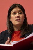 Lisa Nandy speaking Labour Leader Hustings, Dudley - John Harris - 08-03-2020