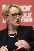 Rebecca Long-Bailey speaking Labour Leader Hustings, Dudley - John Harris - 2020,2020s,debate,debating,DEMOCRACY,Dudley,election,elections,FEMALE,husting,hustings,Labour Party,Leader,leadership,MP,MPs,people,person,persons,POL,political,politician,politicians,Politics,Rebecca