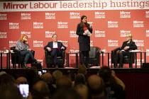 Lisa Nandy speaking Labour Leader Hustings, Dudley - John Harris - 2020,2020s,Asian,Asians,BAME,BAMEs,Black,BME,bmes,debate,debating,DEMOCRACY,diversity,Dudley,election,elections,ethnic,ethnicity,FEMALE,husting,hustings,Labour Party,Leader,leadership,Lisa Nandy,minor