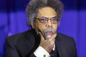 Detroit, Michigan, USA, Dr. Cornel West, Bernie Sanders presidential campaign rally - Jim West - 2020,2020 election,2020s,activist,activists,African American,African Americans,America,american,americans,BAME,BAMEs,Bernie,Bernie Sanders,black,BME,bmes,campaign,campaigner,campaigners,campaigning,CA
