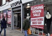 Refitting. Independent clothes shop sale, Utopia closing down for refit, Islington, London - Stefano Cagnoni - apparel,bought,buying,cities,City,close,closed,closing,closing down,closure,closures,clothes,clothing,communicating,communication,consumer,consumers,customer,customers,EBF,Economic,Economy,High St,Hig
