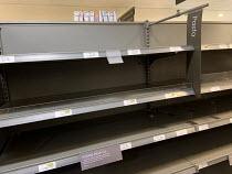 Empty shelves after panic buying, Waitrose, Canary Wharf, London - Jess Hurd - 2020,2020s,bought,buy,buyer,buyers,buying,commodities,commodity,consumer,consumers,contagion,contagious,Coronavirus,COVID-19,crisis,customer,customers,EBF,Economic,Economy,empty,empty shelves,emptying