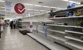 Empty shelves due to panic buying, Tesco, Bristol - Sam Morgan Moore - 17-03-2020