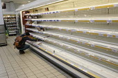 Coronavirus empty shelves after panic buying, Sainsburys supermarket, Putney, London - Duncan Phillips - 2020,2020s,bought,buy,buyer,buyers,buying,cities,City,commodities,commodity,consumer,consumers,coronavirus,covid-19,crisis,customer,customers,disease,DISEASES,EBF,Economic,Economy,empty,empty shelves,