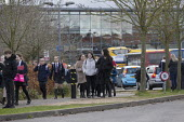 Pupils leaving school closing due to the Coronavirus pandemic, Stratford Upon Avon, Warwickshire. Emergency school closures - John Harris - 2020,2020s,Academies,Academy,boy,boys,child,CHILDHOOD,children,close,closed,closing,closure,closures,coronavirus,covid-19,crisis,disease,DISEASES,EDU,educate,educating,Education,educational,emergency,