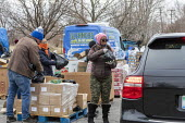 Detroit, Michigan, USA, Coronavirus crisis, The Gleaners Community Food Bank distributing free food to residents in need - Jim West - 21-03-2020