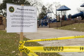 Detroit, Michigan USA. Playground closed due to coronavirus, Belle Isle Park. Officials say playground equipment cannot be adequately disinfected. - Jim West - 22-03-2020