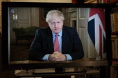 Boris Johnson speaking to the nation on TV, announcing Strict new curbs on life in the UK to tackle the spread of coronavirus - John Harris - 23-03-2020
