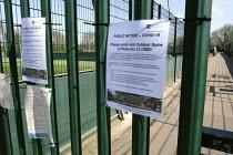 Coronavirus pandemic, closed Rocks Lane Sports Centre, Putney, London - Duncan Phillips - 2020,2020s,cities,City,close,closed,closing,closure,closures,communicating,communication,coronavirus,covid-19,crisis,disease,DISEASES,epidemic,exercising,gym,gyms,Leisure,LFL,LIFE,lockdown,London,noti