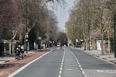 Coronavirus pandemic, normally congested street empty due to lockdown, Castelnau, London - Duncan Phillips - 26-03-2020
