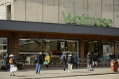 Waitrose store operating a one in one out social distancing policy Bristol - Sam Morgan Moore - 2020,2020s,bought,Bristol,buy,buyer,buyers,buying,cities,City,commodities,commodity,consumer,consumers,coronavirus,covid-19,customer,customers,disease,DISEASES,EBF,Economic,Economy,epidemic,goods,haza