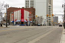 Detroit, Michigan USA Coronavirus pandemic, deserted downtown Detroit - Jim West - 30-03-2020