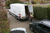 Coronavirus pandemic, Yodel delivery of a box of wine, Stratford Upon Avon, Warwickshire - John Harris - 2020,2020s,box,boxes,coronavirus,covid-19,deliveries,delivering,delivery,disease,DISEASES,driver,drivers,driving,EARNINGS,EBF,Economic,Economy,employee,employees,Employment,epidemic,HEA,Health,Income,