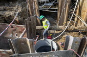 Detroit, Michigan, USA. Engineers working on a sewer project - Jim West - 08-04-2020