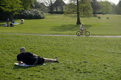 Coronavirus pandemic. social distancing during the coronavirus pandemic, Golders Hill Park, Hampstead Heath, London - Philip Wolmuth - 2020,2020s,bicycle,bicycles,BICYCLING,Bicyclist,Bicyclists,BIKE,BIKES,child,CHILDHOOD,children,cities,City,Coronavirus pandemic,Covid-19,cycle,cycles,cycling,Cyclist,Cyclists,desease,disease,DISEASES,