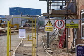 Coronavirus Pandemic. Closed and abandoned building site, Stratford Upon Avon, Warwickshire - John Harris - 15-04-2020
