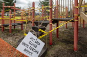 Ferndale, Michigan USA Playground closed due to the coronavirus pandemic, Wanda Park - Jim West - 13-04-2020