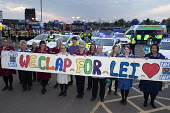 Clap for Our Carers University Hospital Coventry. NHS staff remember St Cross nurse Leilani Dayrit who died from suspected Covid-19 - John Harris - 2020,2020s,activist,activists,against,applauding,applause,BAME,BAMEs,banner,banners,Black,BME,bmes,CAMPAIGNING,CAMPAIGNS,CARE,CARER,Carers,clap,clap for carers,clapping,coronavirus,covid-19,death,deat