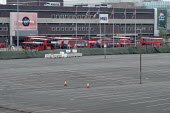 Coronavirus pandemic. Empty car park and parked buses, Brent Cross Shopping Centre, London - Philip Wolmuth - Economy, Health,2020,2020s,AUTO,AUTOMOBILE,AUTOMOBILES,bought,bus,bus service,buses,buying,car,CARS,cities,City,close,closed,closing,closure,closures,coronavirus,Covid-19,crisis,customer,customers,dis
