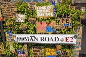 Coronavirus Pandemic. Tributes to essential workers, Roman Road, Tower Hamlets, East London - Jess Hurd - 23-04-2020