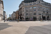 Coronavirus Pandemic. Empty Streets and closed shops, Oxford Circus, London - Duncan Phillips - 22-04-2020