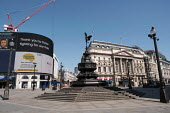 Coronavirus Pandemic. Empty Streets and closed shops, Piccadilly Circus, London - Duncan Phillips - 22-04-2020