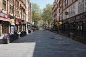 Coronavirus Pandemic. Empty Streets and closed shops, Leicester Square, London - Duncan Phillips - 22-04-2020