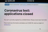 Coronavirus pandemic, Government Covid-19 test website which crashed due to excess demand - Duncan Phillips - 24-04-2020