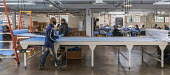 Detroit, Michigan, USA. Workers making protective gowns for health workers, Industrial Sewing and Innovation Center (ISAIC) a newly opened sewn goods manufacturing and training nonprofit. It was set t... - Jim West - 27-04-2020