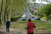 Coronavirus pandemic. Local residents exercising, Gladstone Park, Brent, London - Philip Wolmuth - 27-04-2020