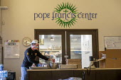 Detroit, Michigan USA. Coronavirus Pandemic. Homeless getting hot meals and other help, Pope Francis Center. The Center has had to close its indoor spaces due to the. It is now serving meals on the st... - Jim West - 01-05-2020