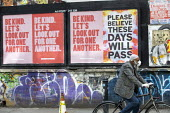 Coronavirus Pandemic. Please Believe These Days Will Pass poster, Shoreditch, East London - Jess Hurd - 2020,2020s,ACE,art,arts,artwork,artworks,Asian,Asians,BAME,BAMEs,bicycle,bicycles,BICYCLING,Bicyclist,Bicyclists,BIKE,BIKES,billboard,billboards,Black,BME,bmes,cities,City,coronavirus,covid-19,culture