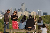 Coronavirus Pandemic. Primrose Hill, London, where lockdown rules regarding social distancing, sunbathing and picnicing are not consistently observed. - Philip Wolmuth - 07-05-2020