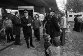 Police evicting Gypsies 1976 from a site underneath the Westway motorway, Shepherds Bush, West London - Ray Rising - 29-09-1976