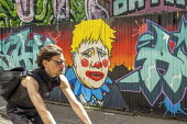 Boris Johnson clown graffiti Shoreditch, East London - Jess Hurd - 2020,2020s,ACE,art,artist,ARTISTS,arts,artwork,artworks,Boris Johnson,clown,clowns,CONSERVATIVE,Conservative Party,conservatives,coronavirus,covid-19,culture,disease,DISEASES,epidemic,graffiti,graffit
