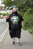 Coronavirus Pandemic: Youth with face mask and death virus Tshirt, Stratford upon Avon - John Harris - 17-05-2020