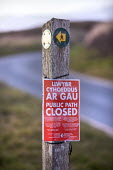 Coronavirus Pandemic. Coastal path closed sign, Pembrokeshire - Paul Box - 02-04-2020