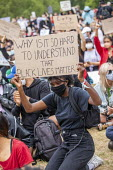 Black Lives Matter protest in solidarity with George Floyd protests, Hyde Park, London - Jess Hurd - 03-06-2020