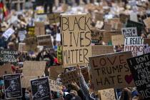 Black Lives Matter protest, Parliament Square, Westminster, London - Jess Hurd - 06-06-2020
