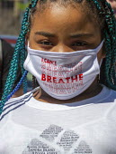 Detroit, USA Pupils from the public schools and suburban districts rally to protest police brutality and the killing of George Floyd - Jim West - 07-06-2020