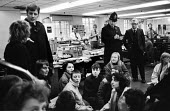 WAVAW occupation of The Sun newsroom, Fleet Street London 1980 in protest against sexual attacks and violence against women, which women believe are made worse by the newspaper's sexist approach to jo... - Tessa Howland - 12-12-1980
