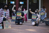 Taking the knee, Black Lives Matter protest Coventry. Stand up to Racism together with the Justice4Daz Darren Cumberbatch family campaign. Darren Cumberbatch, 32, was restrained by officers at a hoste... - John Harris - 24-06-2020