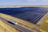 Colorad, USA, 13 megawatt Fort Lupton Solar Farm generating electricity for United Power, a rural electric cooperative - Jim West - 14-09-2017