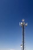 Colorado, USA. Wind turbine mounted on a communications tower - Jim West - 03-07-2020