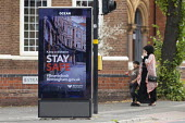 Keep a distance Stay Safe Birmingham City Council Advertisment, Sparkhill, Birmingham - John Harris - 22-07-2020